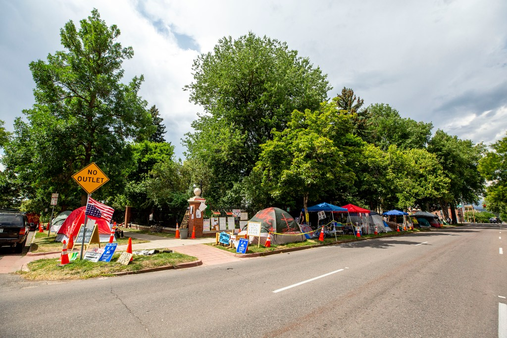 A protest encampment outside of the Governor's Mansion in Capitol Hill. July 16, 2020.