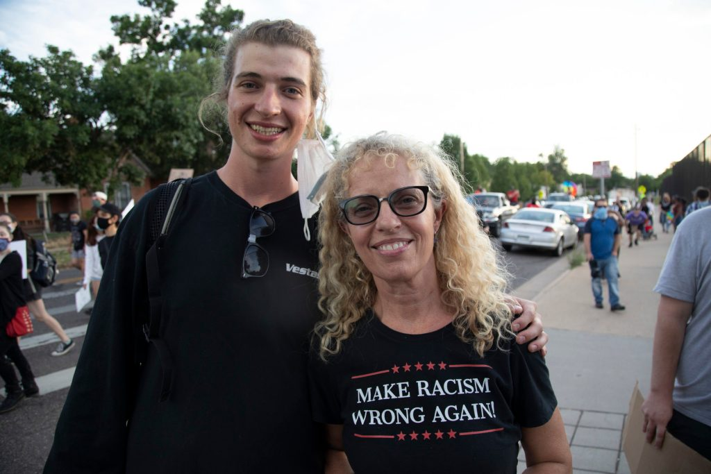 Tricia and Evan at the Fourth of July rally in Denver on July 4, 2020