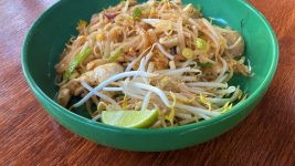 The Pad Thai at Lucky Noodles.