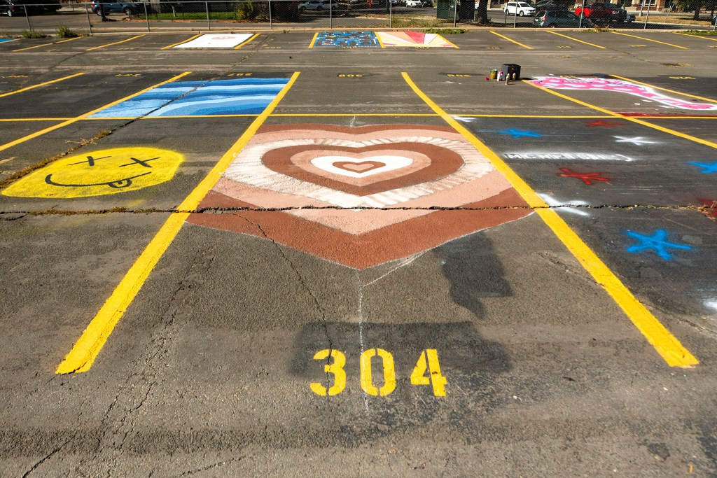 Parking space number 304 East High School. Oct. 16, 2020.