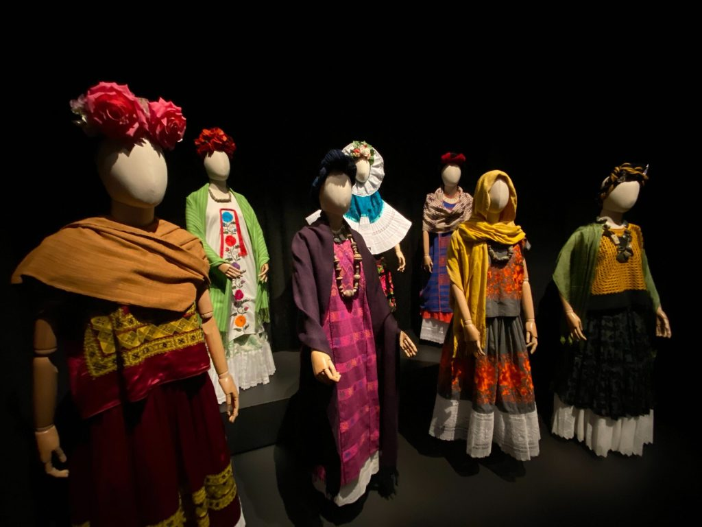 Modern reproductions of Frida Kahlo's wardrobe at the DAM, collected by Sully Bonnelly.