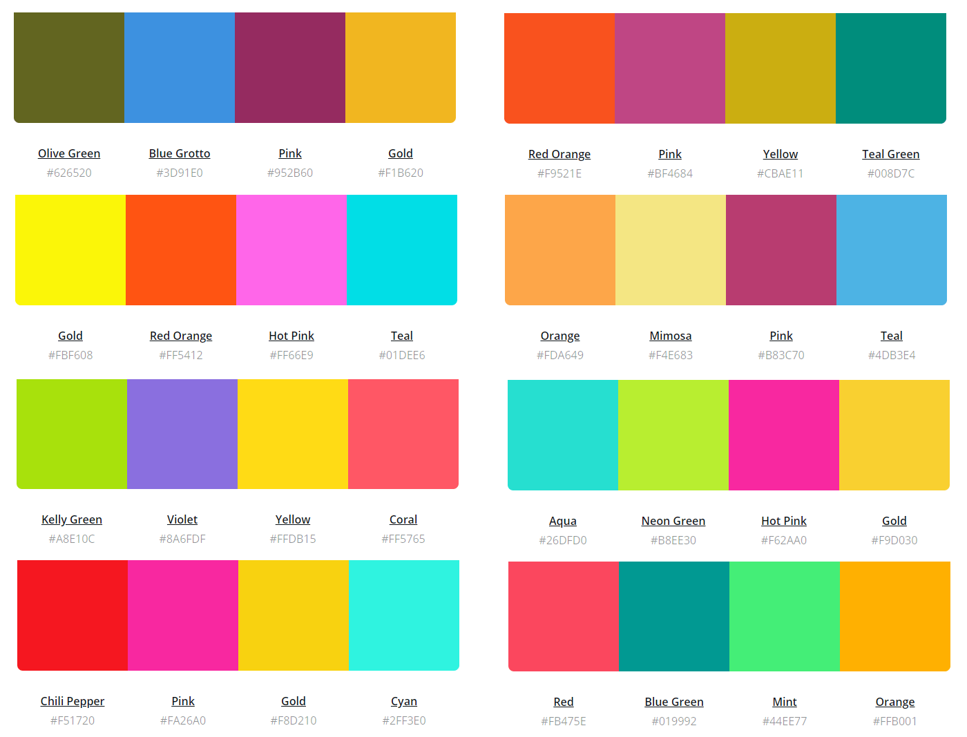 The Ultimate Color Combinations Cheat Sheet To Inspire