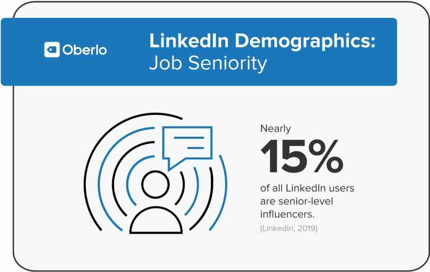 LinkedIn Demographics: Job Seniority