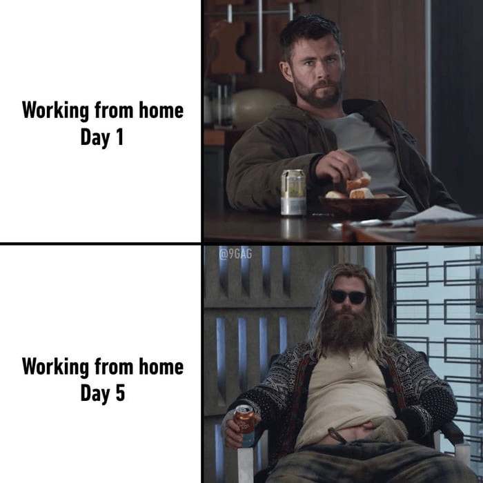 how to work from home routine