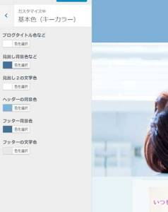 WordPressテーマ「ジラフ」カスタマイズ画面