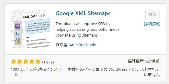 Googleサイトマップ