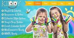 Kiddy 1.1.6 – Детская WordPress тема