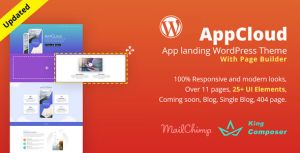 AppCloud — WordPress лендинг для приложений