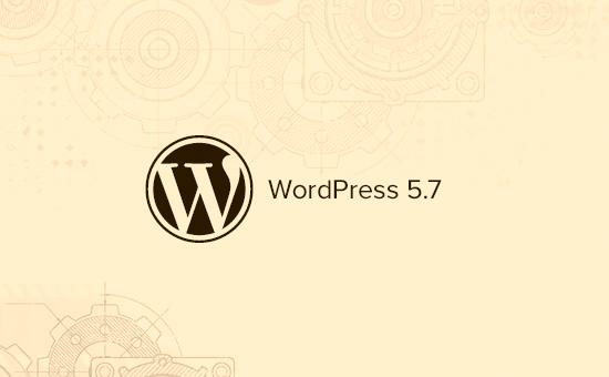 wordpress 5.7