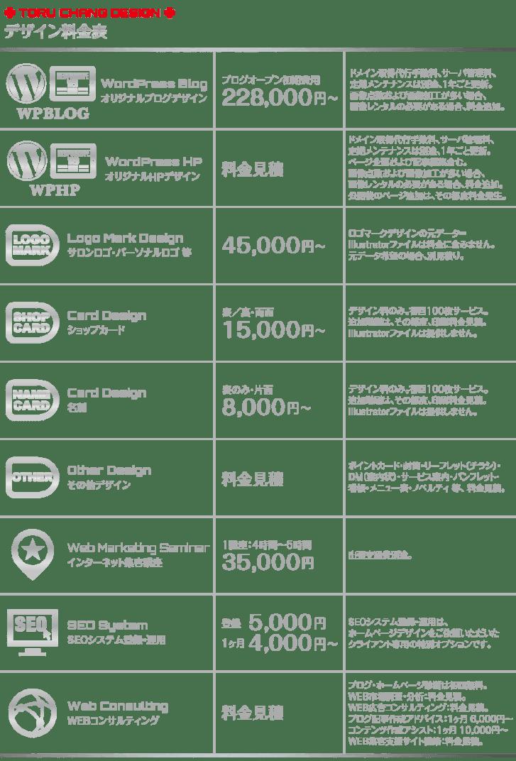 デザイン料金【TORU CHANG DESIGN】WordPress・ホームページデザイン・SEO対策|HPリニューアル|HP制作・富山