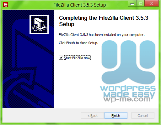 FileZilla Installer - Finishing Setup