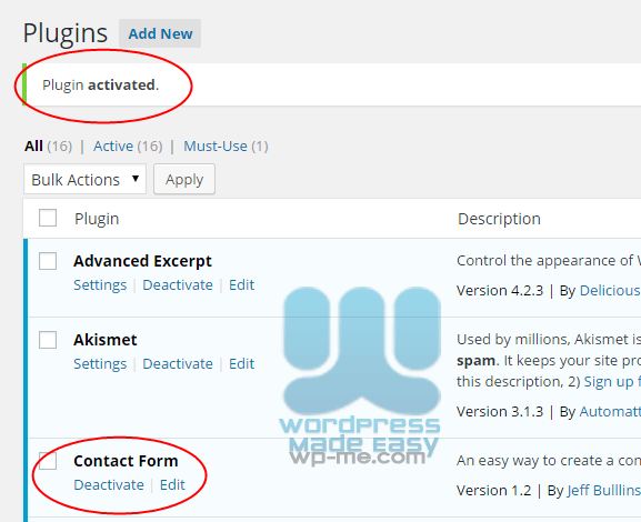 Install WordPress Plugin automatically - Plugin is Activated