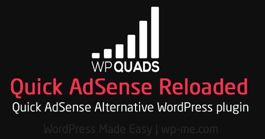 WP QUADS – Quick AdSense Reloaded WordPress Plugin