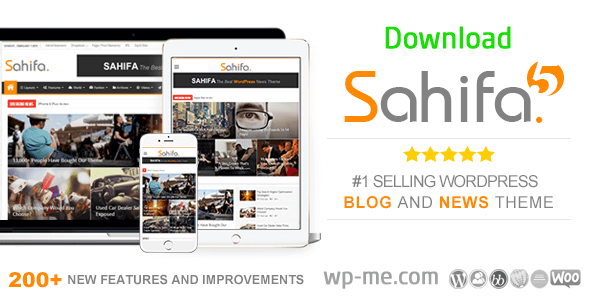 Download Sahifa Responsive WordPress theme