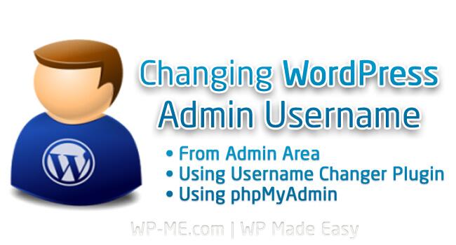Change WordPress Admin Username