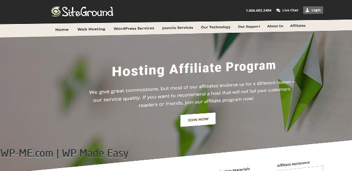 SiteGround Hosting Affiliate Program