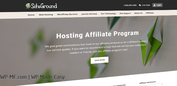 SiteGround Hosting Affiliate Program