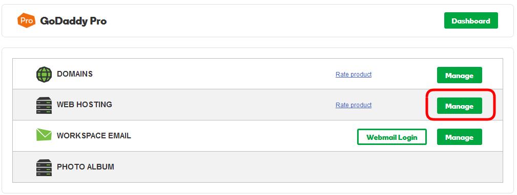 Accessing GoDaddy Hosting Account