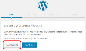 Create a WordPress Website Installatron