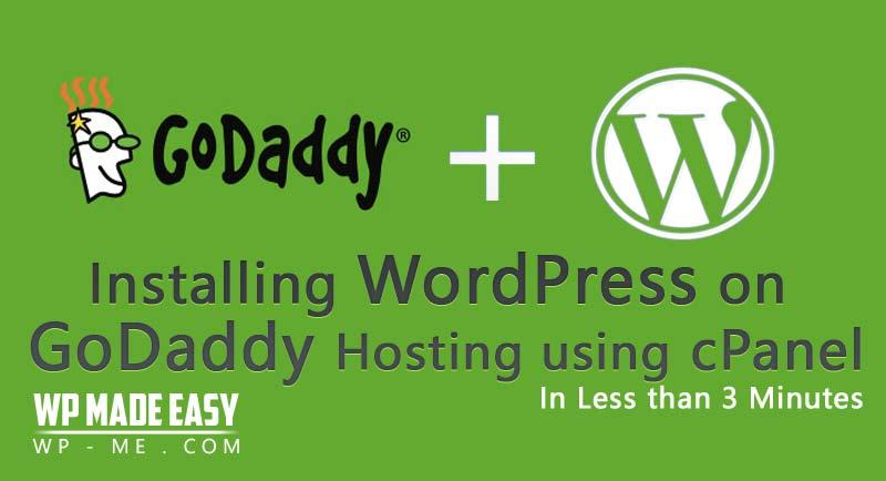 Install WordPress on GoDaddy Economy Hosting in 3 Min