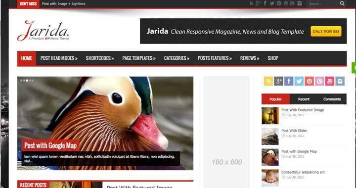 Jarida - Responsive WordPress News, Magazine, Blog Theme