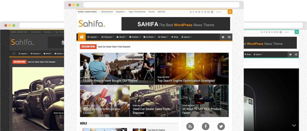 Sahifa - Responsive WordPress News, Magazine, Newspaper Theme