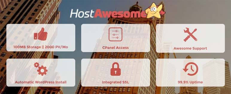 HostAwesome Free WordPress Hosting