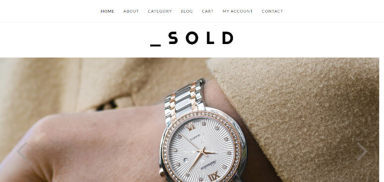 Sold WooCommerce WordPress theme