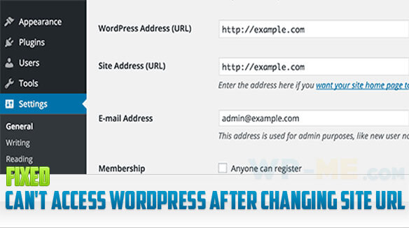 [FIXED] Can't access WordPress after changing site URL