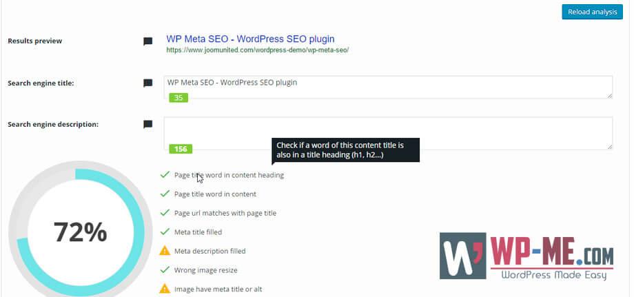 WP Meta SEO On-page SEO Optimizer