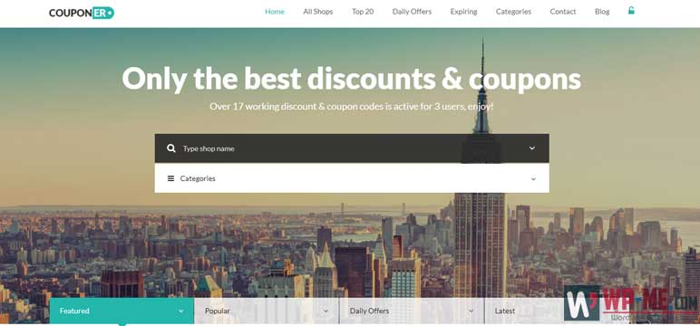 Couponer WordPress Theme