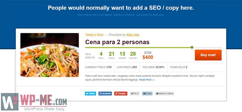 Daily Deal WordPress Coupon Theme