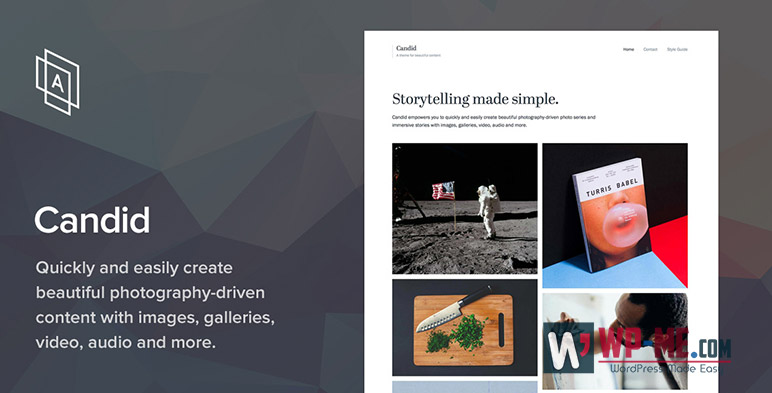 Candid - WordPress Photography Theme