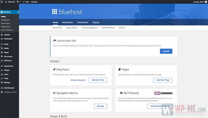 Start a WordPress blog - Bluehost WordPress Tools