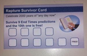 Rapture survivor card