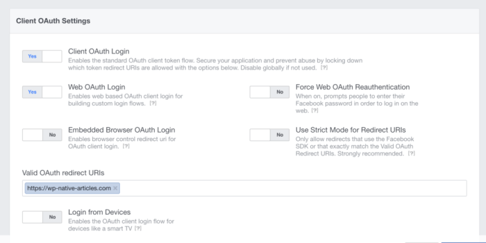 Facebook oAuth Strict Mode