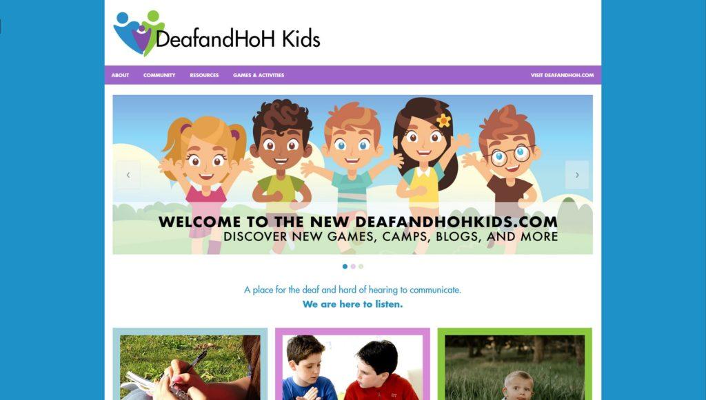 Deaf and HoH Kids Website