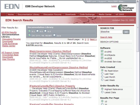 New edn search