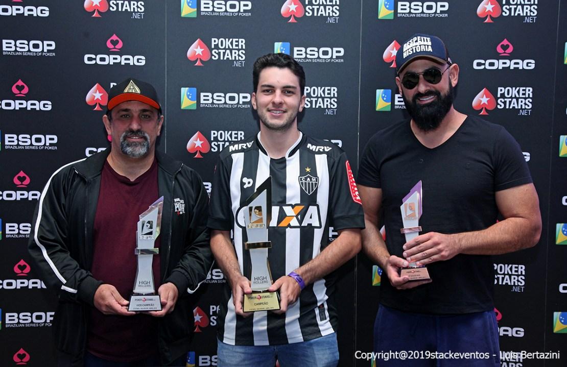 Marcelo Mesqueu, Luis Henrique Maciel e Daniel Croce - High Roller BSOP Salvador
