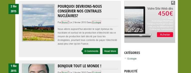 Accueil du blog sur l'écologie, le recyclage et l'environnement www.recycleo.net.