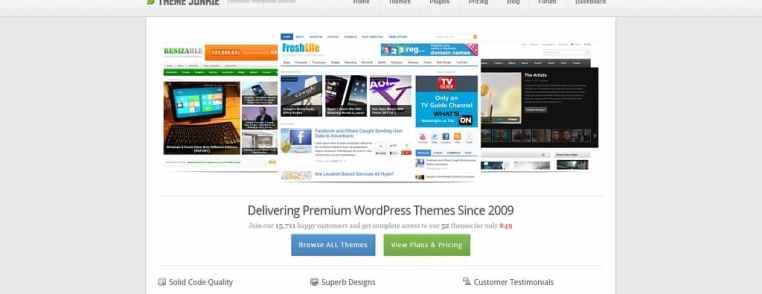 Theme Junkie propose des thèmes premium WordPress à des tarifs imbattables