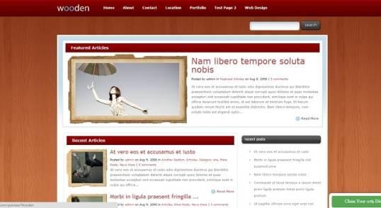 Présentation du thème Wooden de la plateforme Elegantthemes et de sa traduction en français.