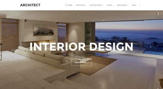 Architect est un thème premium WordPress dont la traduction française est disponible sur WP Traduction.