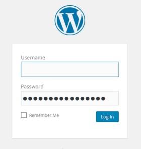 A screenshot of the WordPress login screen