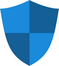 A shield divided into 4 quadrants
