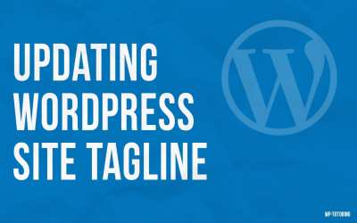 Updating WordPress site tagline