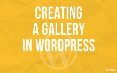 Creating a gallery in WordPress