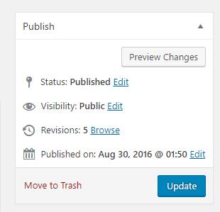 WordPress Tutorial - Using post revisions