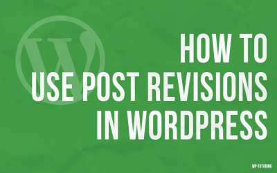 Using post revisions