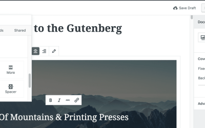 Adding a Button in Gutenberg